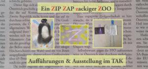 Flyer Ein Zip Zap zackiger Zoo